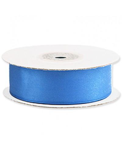 Wstążka tasiemka satynowa z drutem 25mm Niebieska