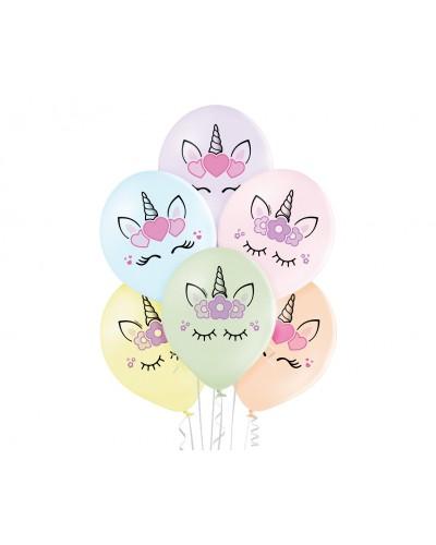 Balony Kwiatowy Pastelowy Jednorożec