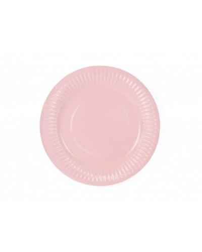 Talerzyki papierowe 10szt. j.różowe