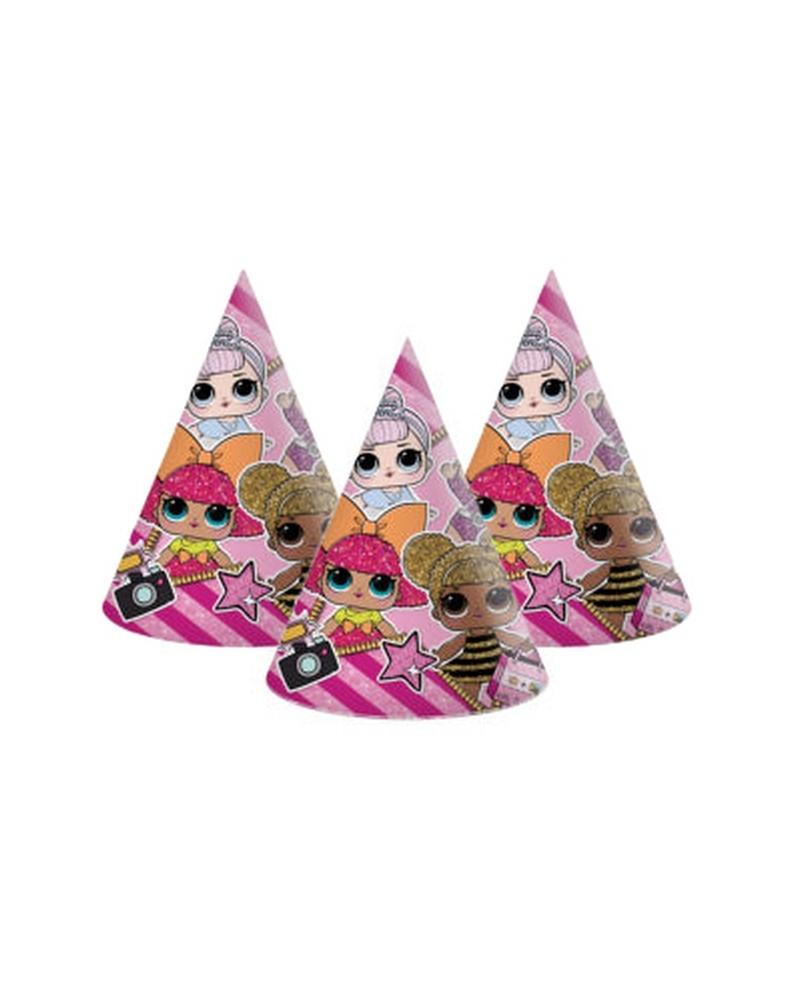 Czapeczki urodzinowe LOL Glitterati