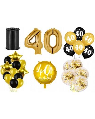 Zestaw dekoracji na 40 urodziny złoty