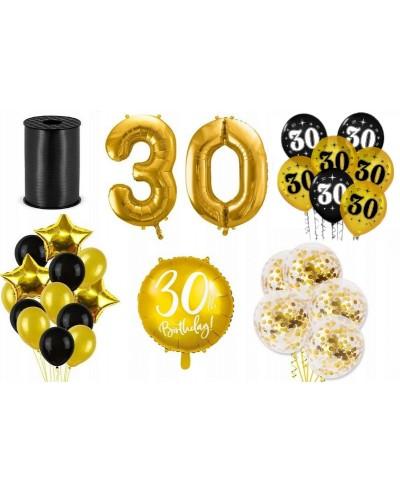 Zestaw dekoracji na 30 urodziny złoty