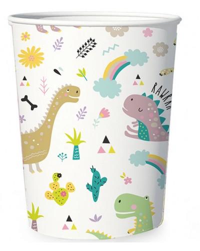 Kubeczki papierowe Dino