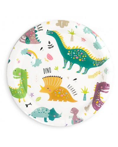 Talerzyki papierowe Dino