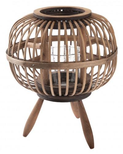 Lampion Bambusowy z Nóżkami