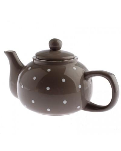 Dzbanek Ceramiczny w Groszki Szary