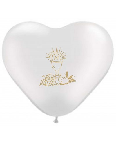 Balon Komunijny Serce Złoty Kielich