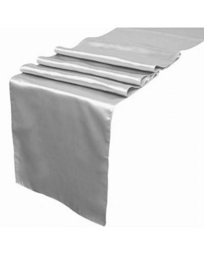 Bieżnik Satynowy Srebrny 16cm x 9m