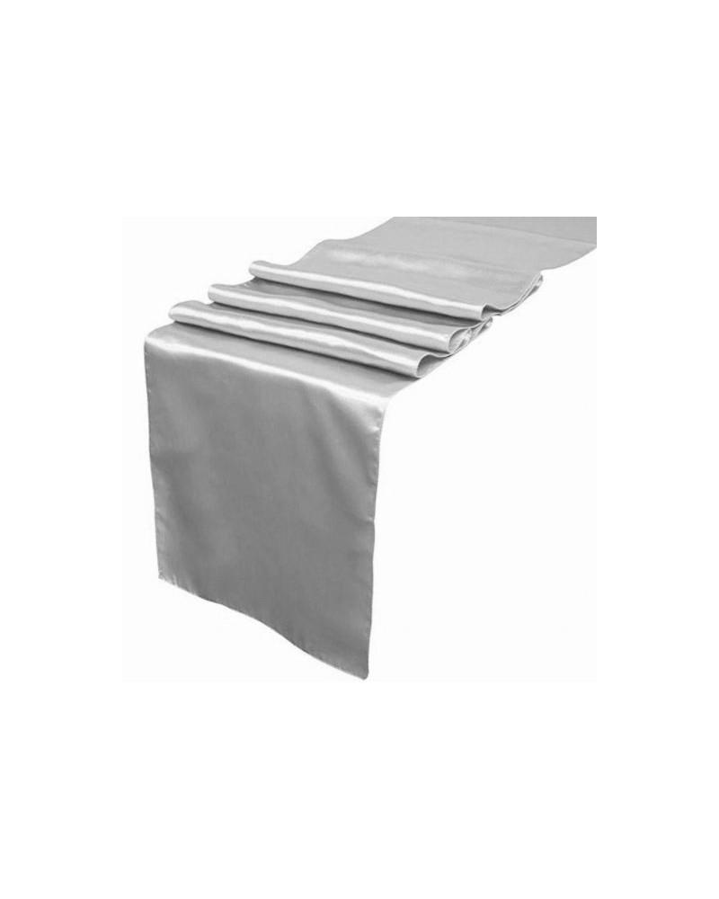 Bieżnik Satynowy Srebrny 36cm x 9m