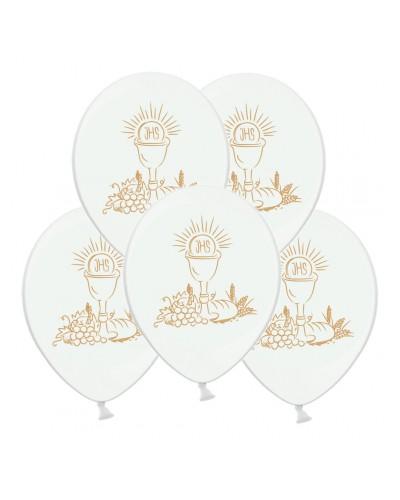 Balony na pierwszą Komunie Złote