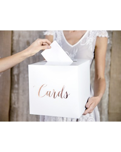 Pudełko na koperty - Cards Rose Gold