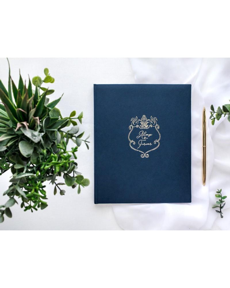 Księga Gości Guest Book Granatowa