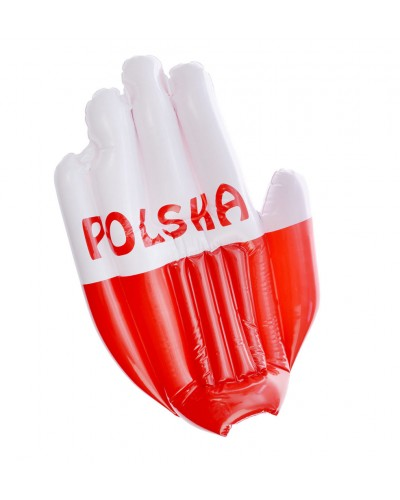 Dmuchana Rękawica Polska Biało Czerwoni