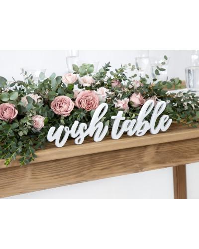 Napis Na Stół Wish Table