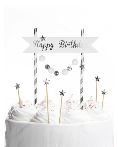 Piker Happy Birthday Silver