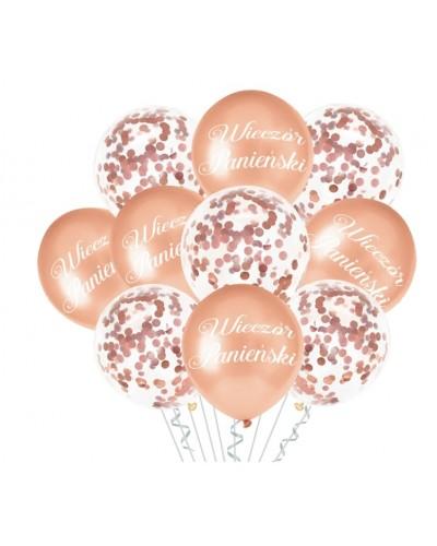 Balony na Wieczór Panieński Rose Gold Mix