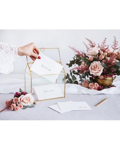 Szklane Pudełko Na Koperty Pieniądze Glamour