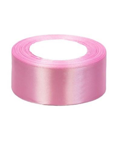 Wstążka satynowa 38mm różowa