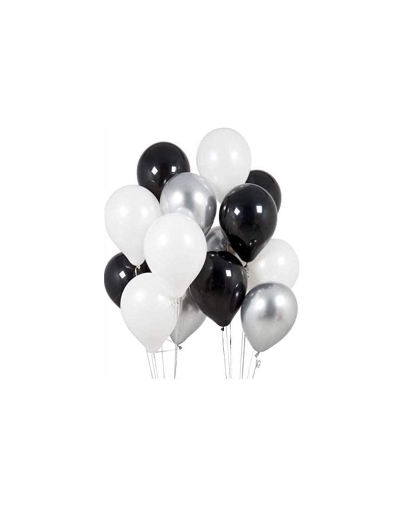 Zestaw na Urodziny Balony Blacksilver 24 szt.
