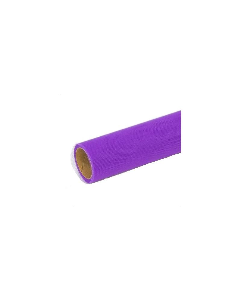 Tiul dekoracyjny 50cm/9,1m fioletowy