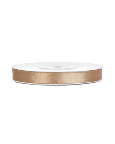 Wstążka satynowa 6mm złota