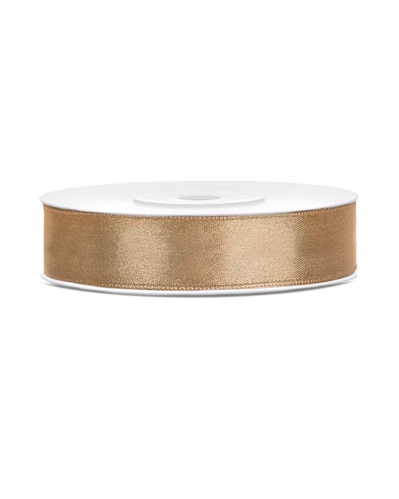 Wstążka satynowa 12mm złota