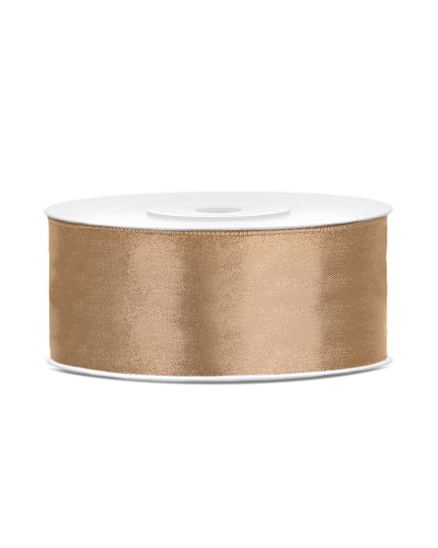 Wstążka satynowa 25mm złota