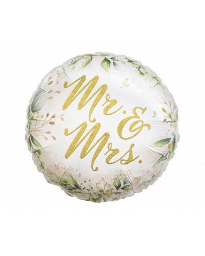 "Balon foliowy"" Mr & Mrs"""