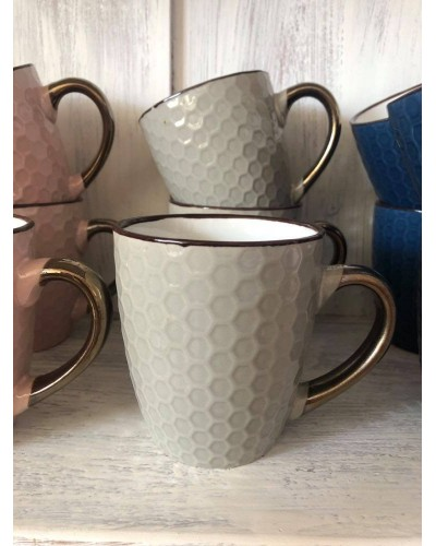 Kubek Ceramiczny w kolorze Szarym