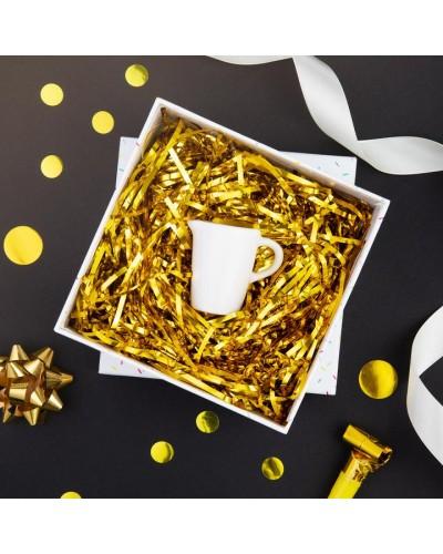 Wypełnienie do prezentu złote