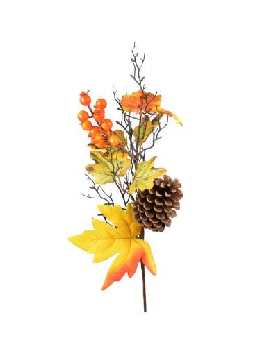 Jesienna gałązka ozdobna z szyszką