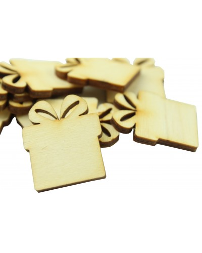 Drewniane prezenciki naturalne 10 szt.