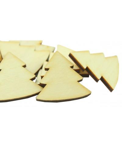 Drewniane choinki naturalne 10 szt.