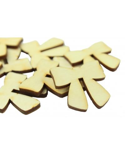 Drewniane kokardki naturalne 10 szt.