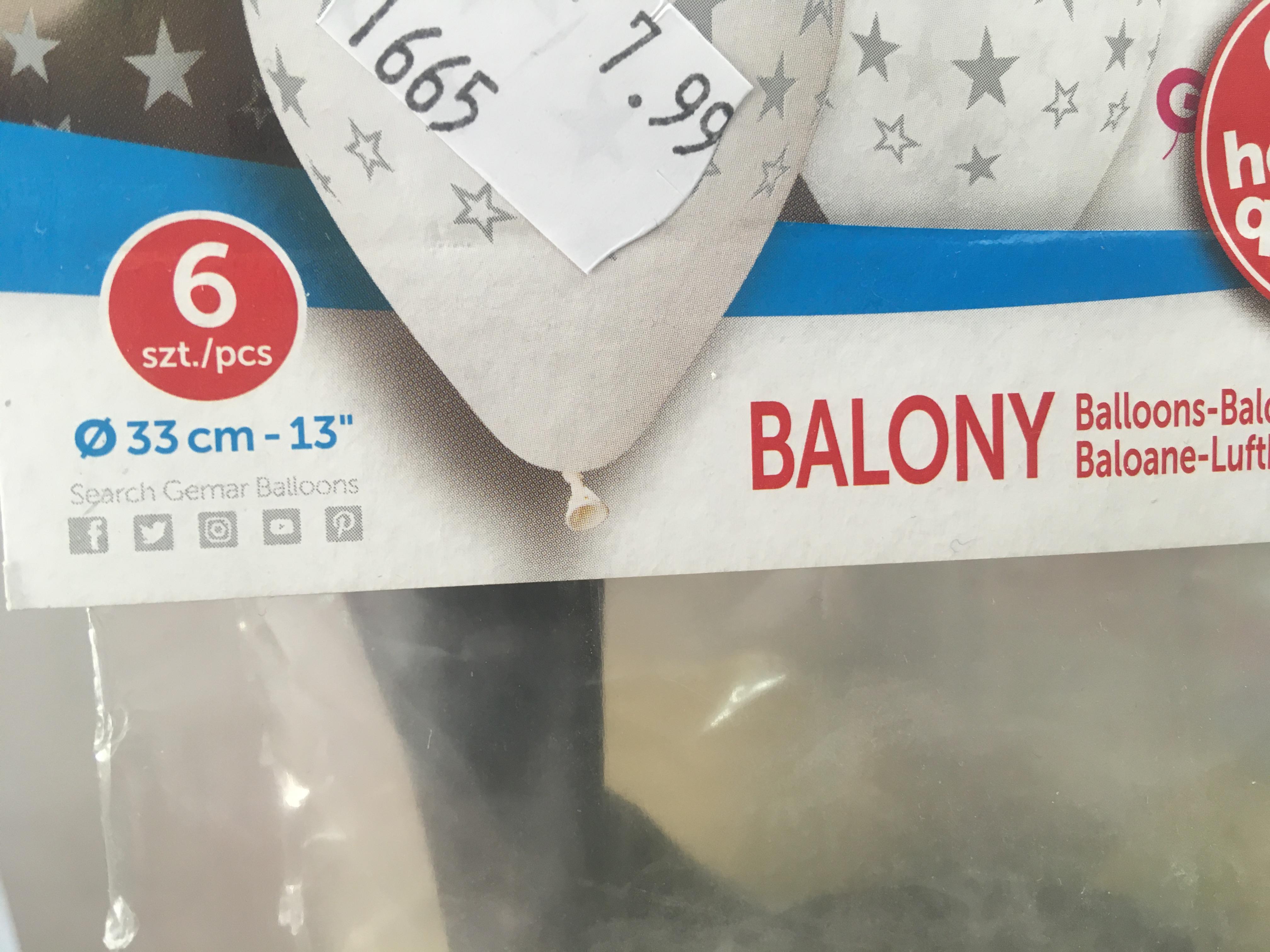 Cale ile to cm balony