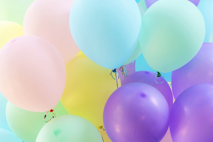 balony pastelowe