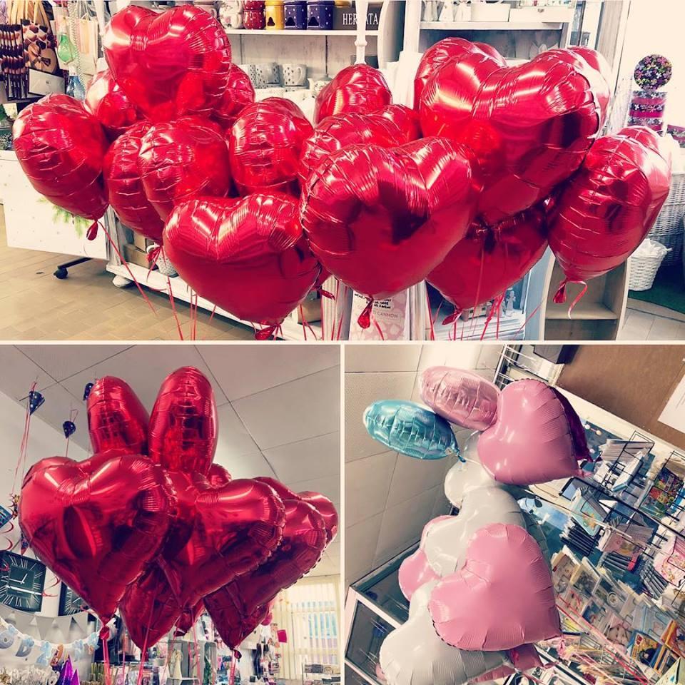 balony serca z helem