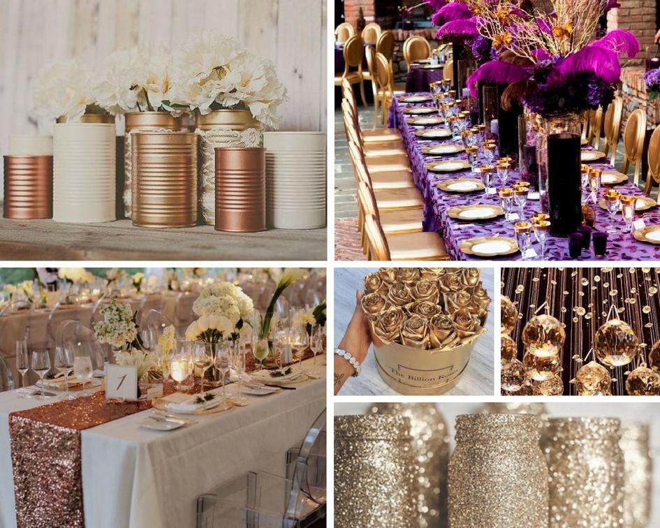złote dodatki na wesle