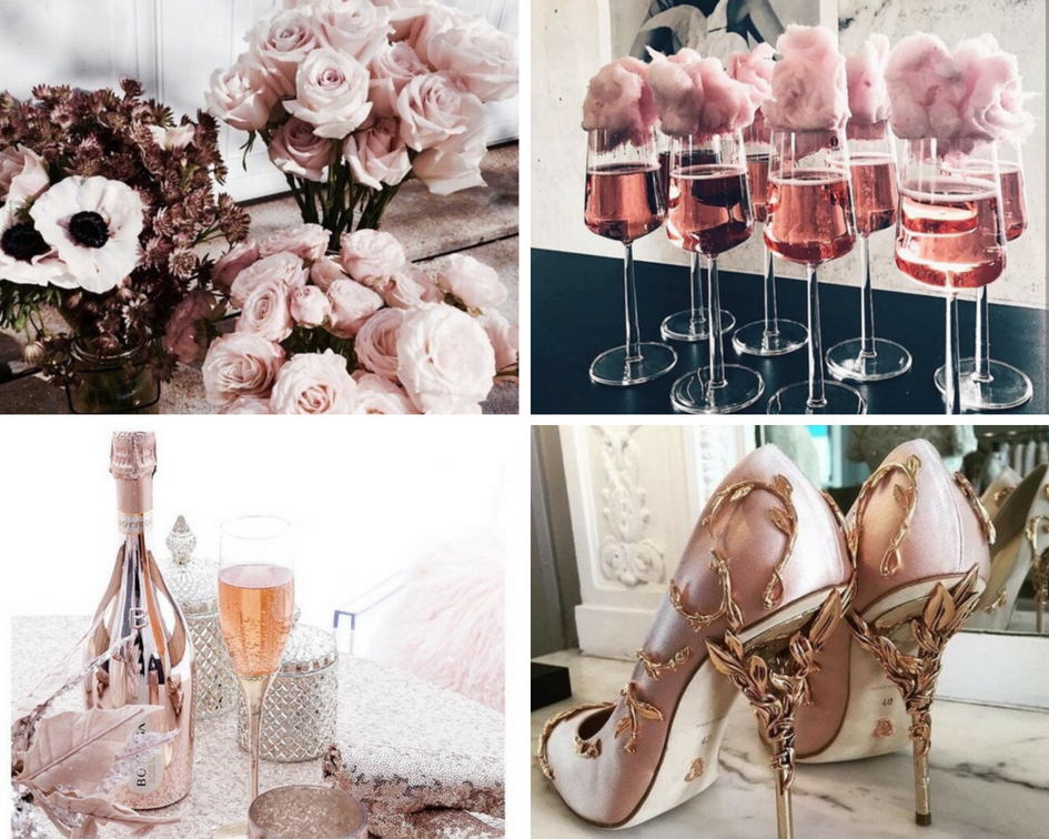 Rose gold wesele