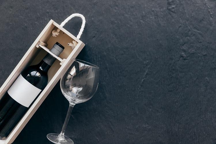 pudełko na alkohol weselny